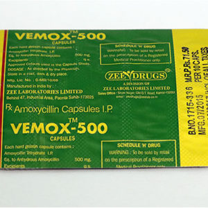 Vemox 500 - buy Amoxicillin in the online store | Price